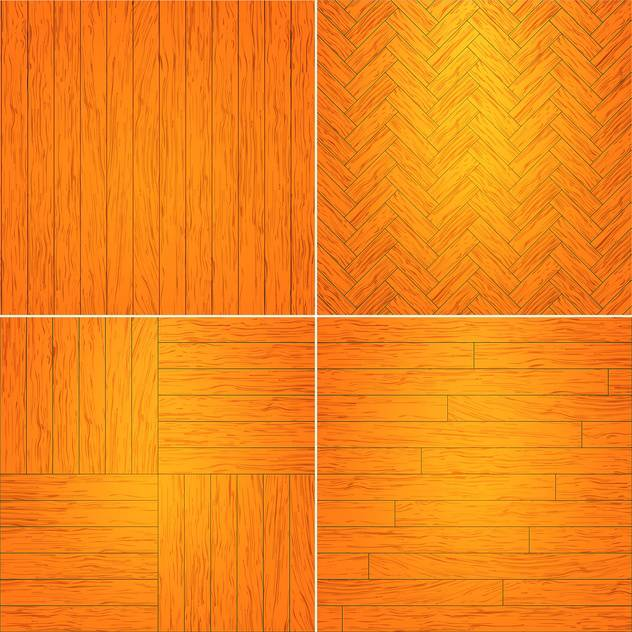 Vector illustration set of brown wooden textures - vector gratuit #126046