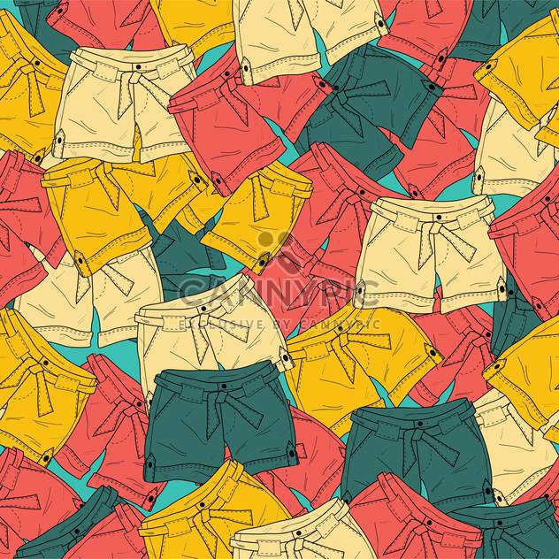 Vector background with fashionable colorful different shorts - Free vector #126076
