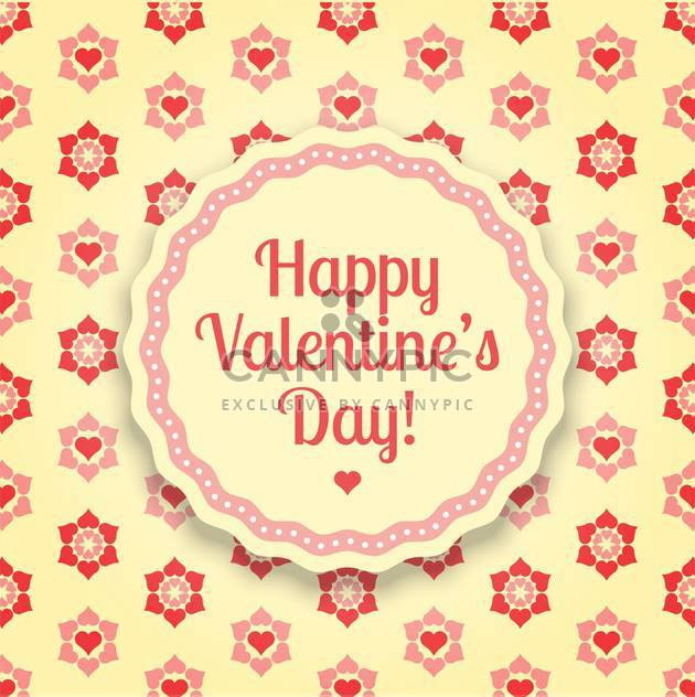 Vector floral background for Valentine's Day with flowers and hearts - Free vector #126246