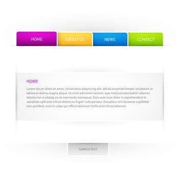 Web site vector template on white background - vector #126376 gratis