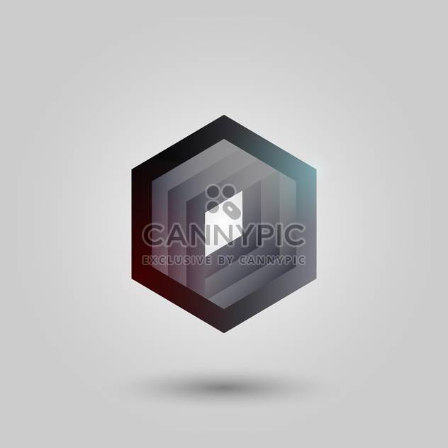 Vector black abstract hexagon on white background - Free vector #126406