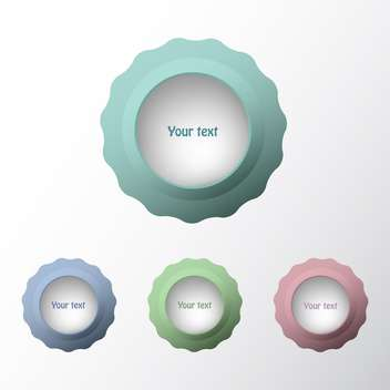 Vector set of web buttons on white background with text place - Free vector #126476