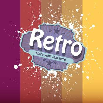 Vector illustration of retro colorful background with paint drops - vector gratuit #126616