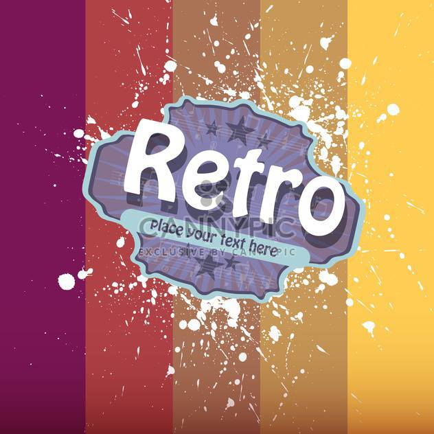 Vector illustration of retro colorful background with paint drops - Free vector #126616