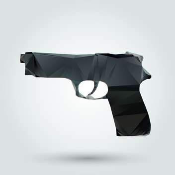 Vector illustration of abstract gun on white background - vector #126726 gratis