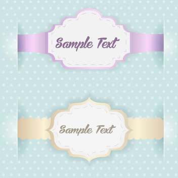 Vector blue vintage frames with text place - vector gratuit #126816