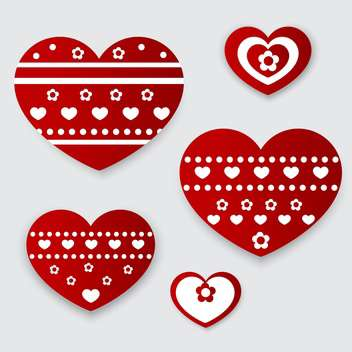 Vector greeting card with hearts for Valentine's day - vector gratuit #126846