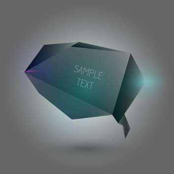 Abstract black speech bubble on dark background with text place - vector #126856 gratis
