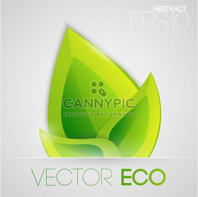 Vector illustration of eco green leaves on white background - Free vector #126886
