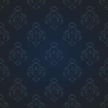 Vector vintage dark background with floral pattern and text place - vector gratuit #126956