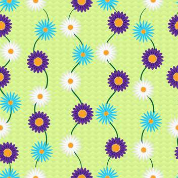 Vector background with colorful flowers with text place - vector gratuit #126986
