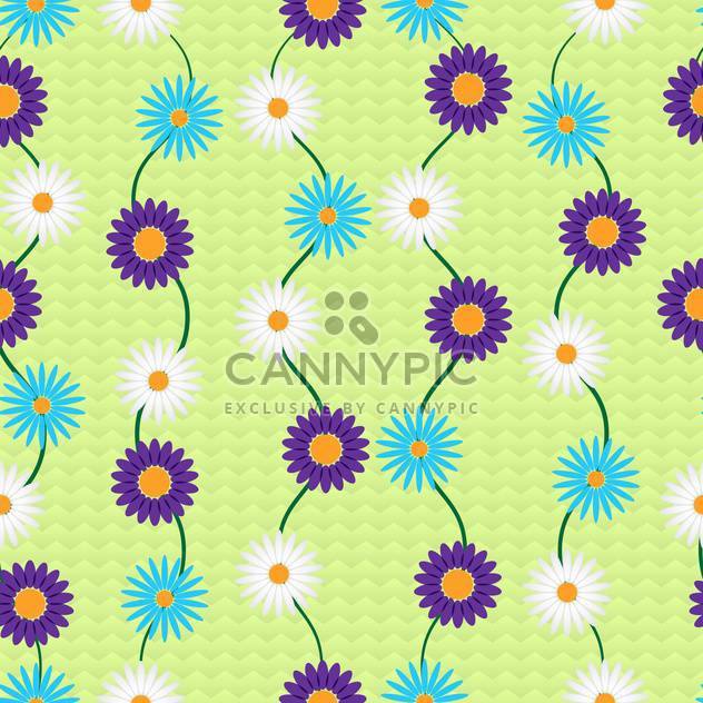 Vector background with colorful flowers with text place - Free vector #126986