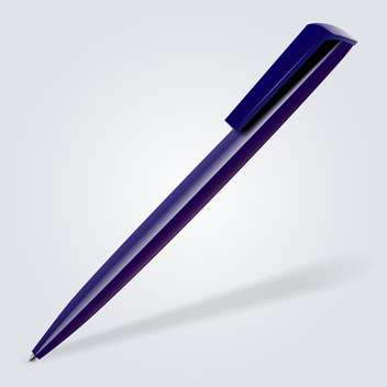 Vector illustration of blue pen on white background - vector gratuit #127046