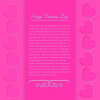 Pink valentine background with text place and hearts - Free vector #127056