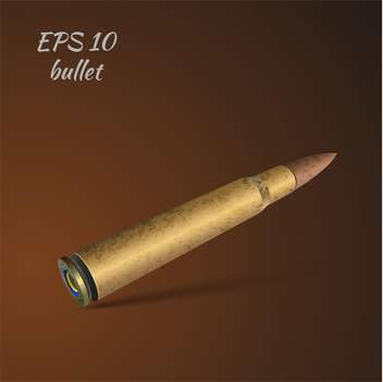 Vector illustration of bullet on brown background - vector gratuit #127146