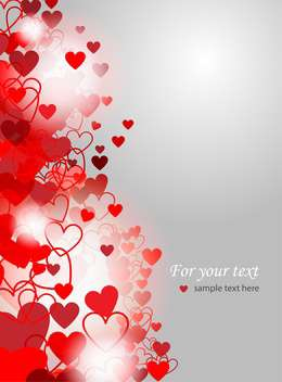 Valentines Day background with love hearts - vector gratuit #127156