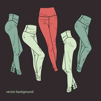 Vector background with fashion female pants - vector #127176 gratis