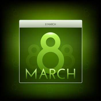 Vector illustration of March 8 green button - Free vector #127196