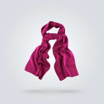 Vector illustration of fashion purple scarf on grey background - бесплатный vector #127286