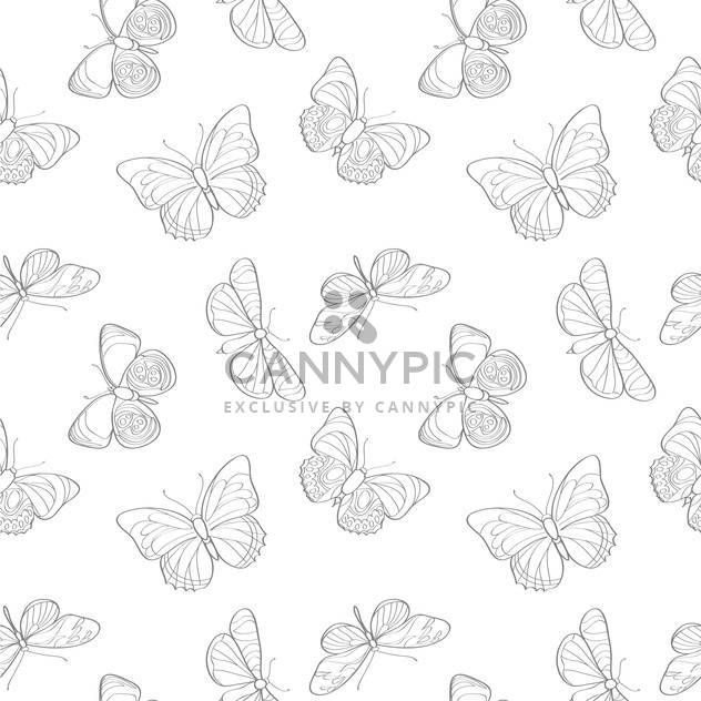 Vector illustration of seamless butterflies background - Free vector #127306