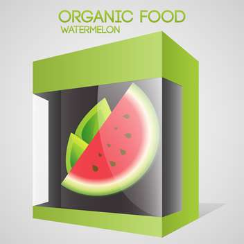 Vector illustration of watermelon in packaged for organic food concept - vector gratuit #127316