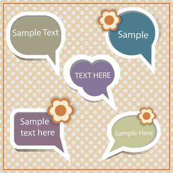 Set of speech and thought blobs with text place - vector gratuit #127346