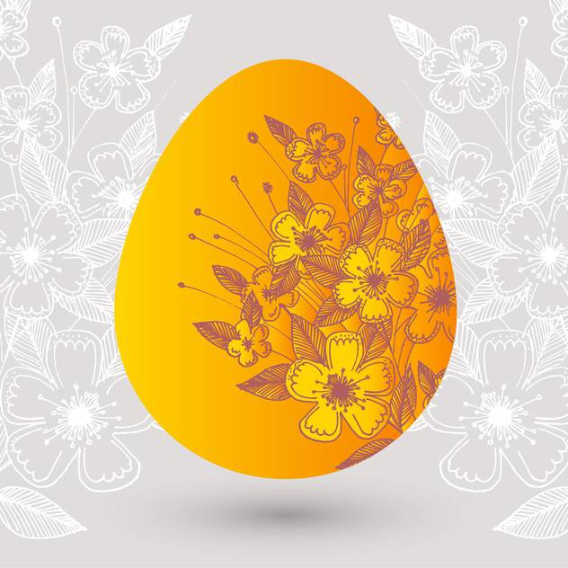 Vector illustration of floral easter egg - Free vector #127616