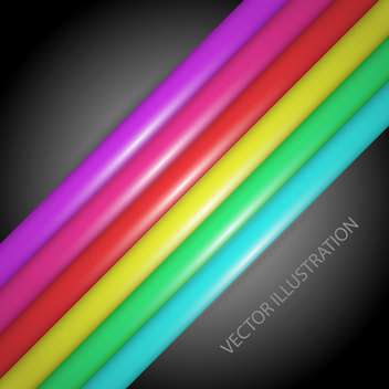 vector illustration of rainbow gradient lines on dark background - vector gratuit #127676