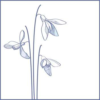 Vector blue flowers on white background - Free vector #127696