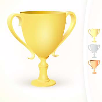 vector illustration of winner's cups on white background - vector gratuit #127746