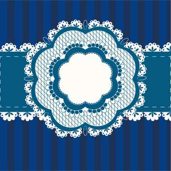 Vector vintage blue flower frame with text place - Free vector #127816