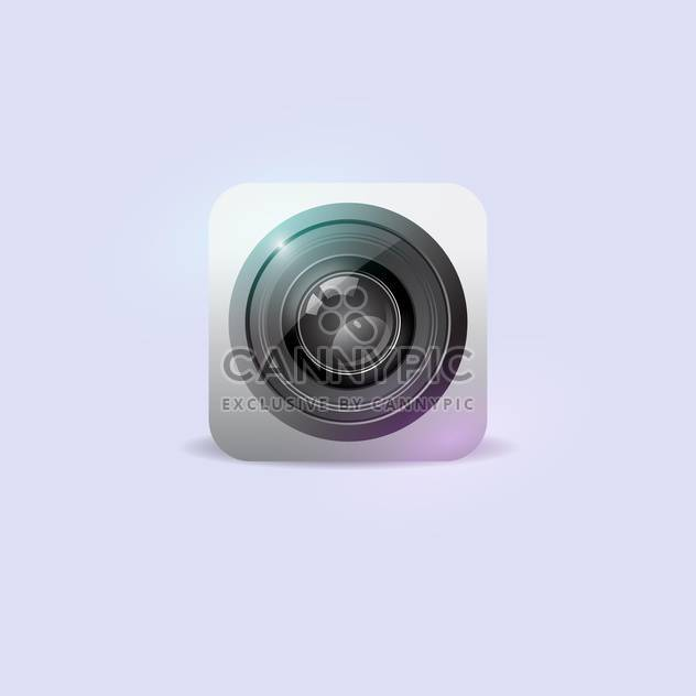 vector illustration of camera icon on white background - Free vector #127836