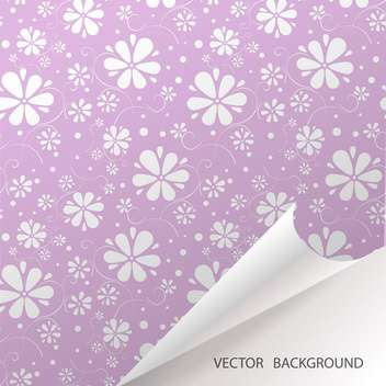 Abstract seamless violet background with flowers - vector gratuit #127846