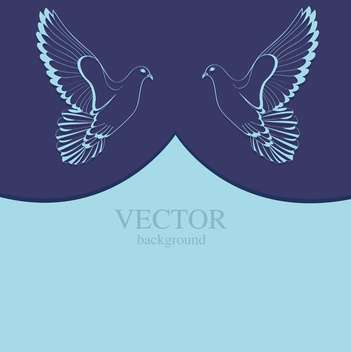 two doves on blue background with text place - Kostenloses vector #127856