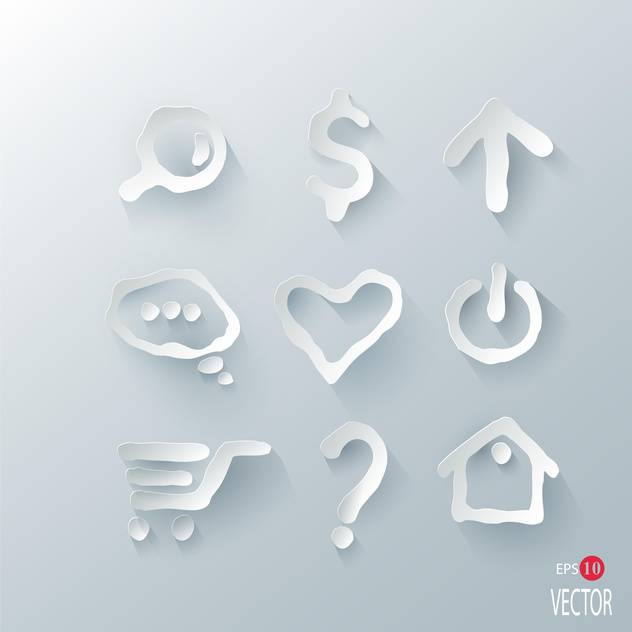 vector illustration of marks set on silver background - Free vector #127886