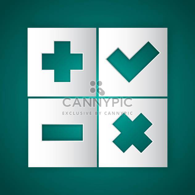 square shaped internet buttons on green background - Free vector #127916