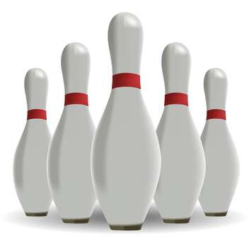 bowling skittles on white background - бесплатный vector #127926