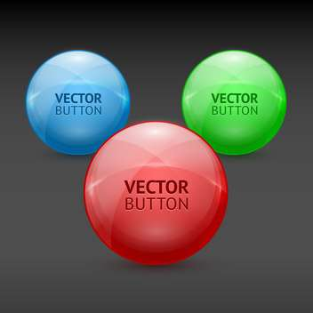 Vector colorful round shaped design elements on dark background - vector gratuit #128006