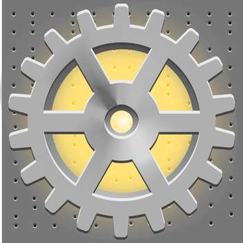 Vector metal cogwheel icon - vector gratuit #128146