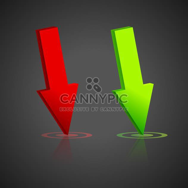 Green and red vector arrows - Free vector #128186