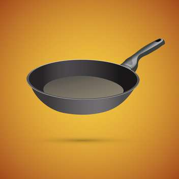 Frying pan vector illustration, on a yellow background - бесплатный vector #128196