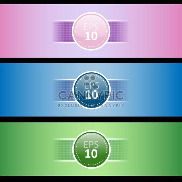 set with three colored banners, vector Illustration - Free vector #128256