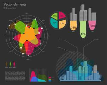 Set with infographic vector elements - vector gratuit #128296