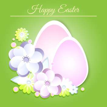 Happy Easter greeting card - vector gratuit #128326