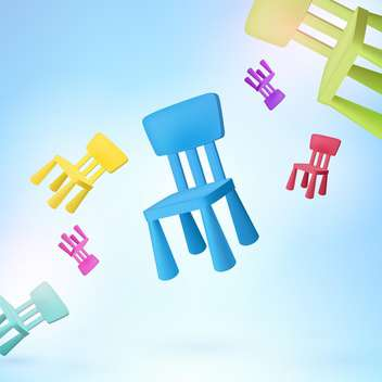 multicolored chairs vector illustration - vector #128356 gratis