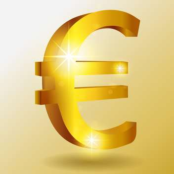 Vector golden euro symbol - vector gratuit #128426