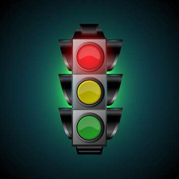 Vector illustration of traffic light - vector gratuit #128436