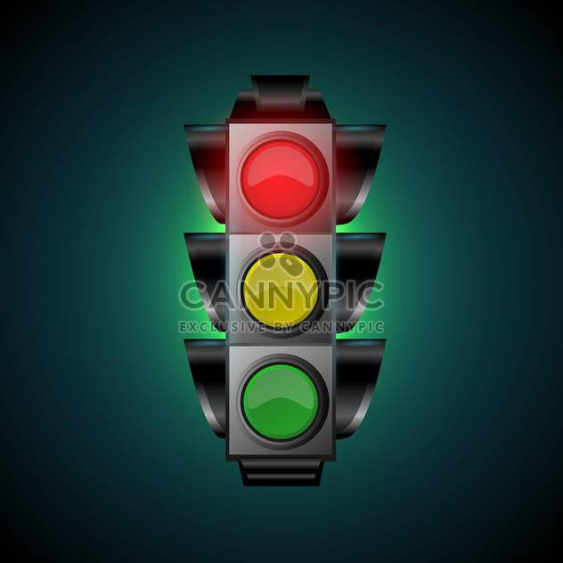 Vector illustration of traffic light - Free vector #128436