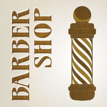 Vector illustration of wooden barber shop pole - vector gratuit #128546