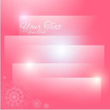 Abstract pink vector background - vector #128696 gratis